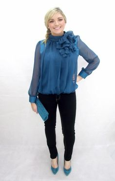 My favourite outfit this year . Teal blue bow blouse and our must have straight leg stretch jeans with matching teal on trend pointys with matching clutch . Perfect and fabulous and I feel Just fabulous when I wear it -xx Blue Bow, Teal Blue, Bow Blouse, Ruffle Blouse, Leg Stretching, Stretch Jeans, Must Haves, Legs, My Favorite Things