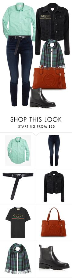 """""""10"""" by pollidolgyshina on Polyvore featuring мода, Brooks Brothers, Jen7, Frame, Gucci, Dsquared2 и Cole Haan"""