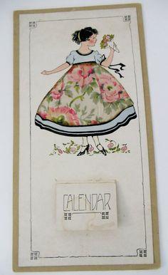 Antique 1925 Calender Girl  REAL Silk DRESS by UrbanRenewalDesigns, $12.00