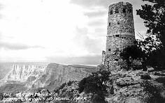 The Watchtower, Grand Canyon, 1932; National Parks rustic/Southwest rustic style—evokes Anasazi architecture and Spanish torreons here; by Mary Coulter (architect and decorator for the Fred Harvey Company, designer of numerous Grand Canyon buildings, 1869-1958)
