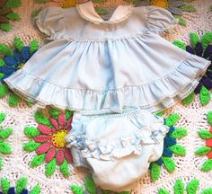 Baby Blue Baby Dress 03 Months by lishyloo on Etsy, $10.00