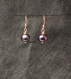 9ct Rose Gold plated Sterling Silver Baroque Freshwater Pearl. Etsy.com/uk/shop/Maree Angelique