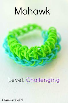 Rainbow Loom Mohawk Bracelet