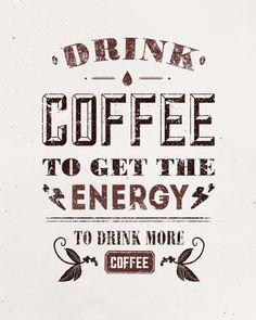 I Love coffee every day by Andrey Zhulidin, via Behance