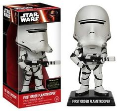 FUNKO Wacky Wobbler Star Wars First Order Flametrooper #6243 With Serial NMIB #StarWars