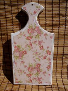 Wooden Cutting Board Cabbage Rose Shabby Chic by UpcycledMix