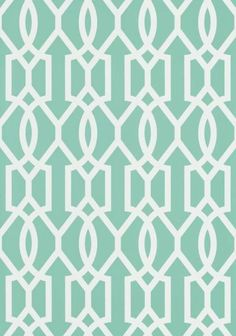 Downing Gate #wallpaper and coordinating #fabric in Turquoise from the Resort Collection by #Thibaut