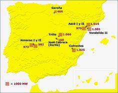 Centrales #nucleares en España