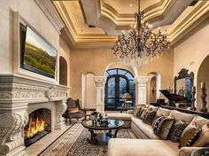 How to create a glamorous living room These pictures are to die for