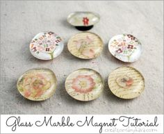How To Make Glass Marble Magnets #tutorial #craft