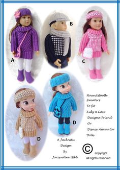 KC06 Kidz n Cats and Disney Animator Doll.Houndstooth by jacknitss
