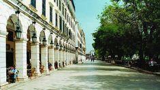 Sights of Corfu - Liston in Spianada Square Villas In Corfu, Corfu Town, Corfu Island, Corfu Greece, Old Town Square, Summer Books, Greece Islands, Greece Travel, Beautiful Beaches