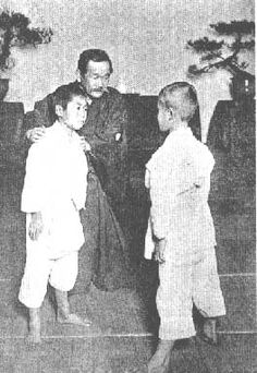Jigoro Kano teaching Judo