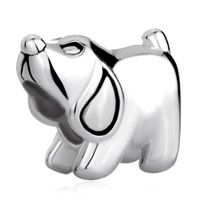 925  Sterling Silver Puppy Dog Animal Euro Jewelry Gift Fits Beads Charms Bracelets Fit All Brands