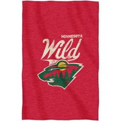 NHL Minnesota Wild Script 54 inch x 84 inch Sweatshirt Throw, Multicolor