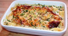 Sajtszószban sült tortellini recept: Egyszerűen elkészíthető és nagyon finom sajtszószban sült tortellini recept! Próbáld ki Te is! :) Tortellini, Quiche, Mashed Potatoes, Oreo, Goodies, Chicken, Vegetables, Cooking, Breakfast