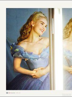 Lily James as Cinderella - she looks so cute! Cinderella Live Action, Cinderella Cosplay, Cinderella Movie, Cinderella 2015, Cinderella Carriage, Cinderella Dresses, Disney Love, Disney Magic, Disney Art
