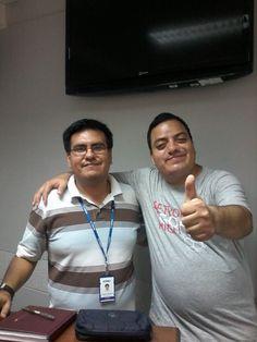 Con Teacher Carlos Andrés Aponte Palomino de Intermediate 1