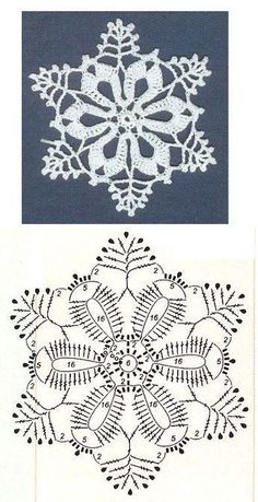 crochet Free patterns of wonderful crocheted snowflakes, to weave with love! Many snowflakes to crochet / crochet. Choose your favorites and start making yours today. Snowflakes are a fantastic idea … Read more … → Crochet Snowflake Pattern, Crochet Stars, Crochet Snowflakes, Thread Crochet, Crochet Motif, Diy Crochet, Crochet Crafts, Crochet Flowers, Crochet Projects