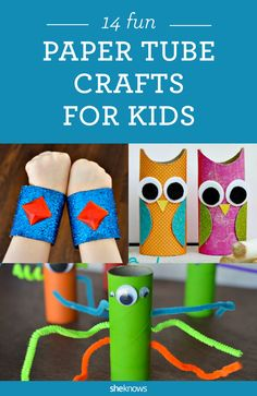 Great paper tube craft ideas for kids! Perfect for kindergarten or nursery schoolers