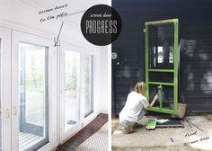 cabin-screen-doors in Kate Spade green...LOVE it!