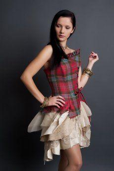 Bella, Short Style, Silk and Tartan (Plaid) Dress | Scottish kilts online - Buy tartan kilt from Edinburgh.