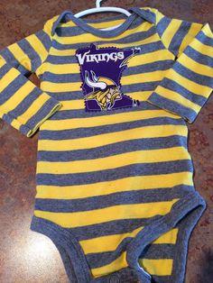 6e4c791b5 Minnesota Vikings Baby Unisex Onesie ~ Size 9 Months ~ Upcycled ~ Carter's  ~ Skol Vikings