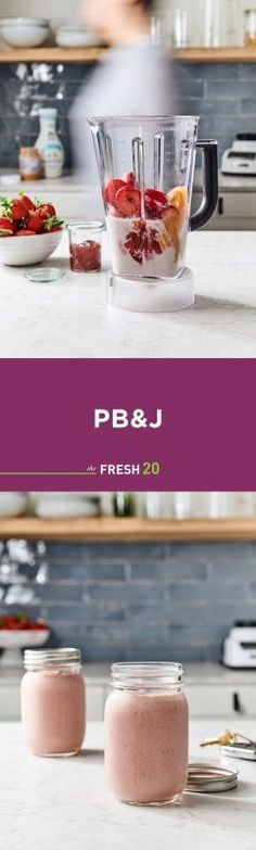 Kid Approved No sugar added PB&J smoothie - The Fresh 20