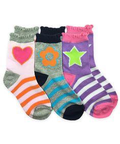 Jefferies Socks Little Girls Grey Daisy Pattern Tutu Ruffle Socks 6-7.5