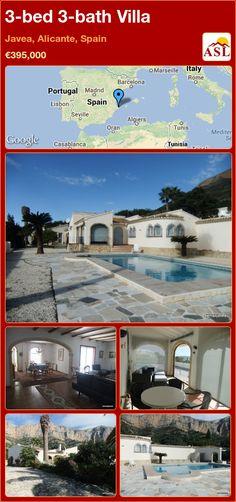 3-bed 3-bath Villa in Javea, Alicante, Spain ►€395,000 #PropertyForSaleInSpain