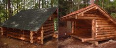 RUSTIC CABINS IN THE WOODS | Custom built Adirondack lean-tos, buildings and rustic structures.