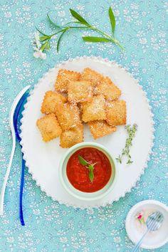 Fried Ravioli alla Marinara Sauce   Food and Cook