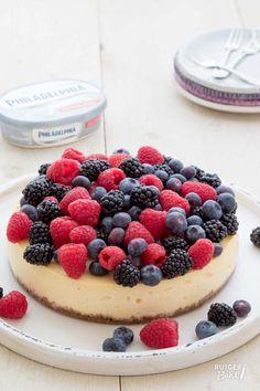 Philadelphia cheesecake met zomerfruit – recept