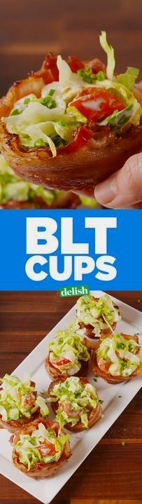 BLT Cups are the fun way to make your favorite sandwich low-carb. Get the recipe from Delish.com.