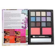 Smoky Eyeshadow Face Blush Powder Brush Makeup Kits
