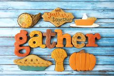 We Gather Together Thanksgiving Decorated Cookie Collection — CookieCrazie Acorn Cookies, Turkey Cookies, Fall Cookies, Cut Out Cookies, Sugar Cookies, Thanksgiving Cookies, Christmas Cookies, Thanksgiving Holiday, Fall Cookie Recipes