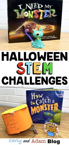 The Best Halloween Read Alouds and STEM Challenges — Carly and Adam Space Activities For Kids, Halloween Activities For Kids, Enrichment Activities, Classroom Activities, Language Activities, Holiday Activities, Halloween Ideas, Kindergarten Stem, Stem Learning