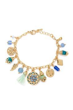 Rhinestone Charm Bracelet | Forever 21 - 1000169862