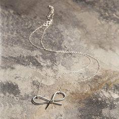 Bow Silver Jewellery Set