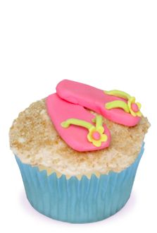 Flip Flops in the Sand Cupcakes