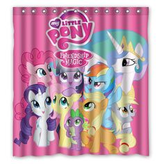 If you are a big fan of My Little Pony then you will definitely need to check out this cool My Little Pony Friendship is Magic Shower Curtain