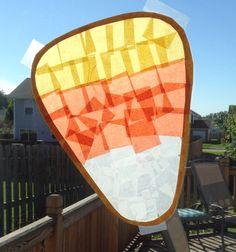 Candy Corn Sun Catcher - Halloween Craft - Preschool Craft