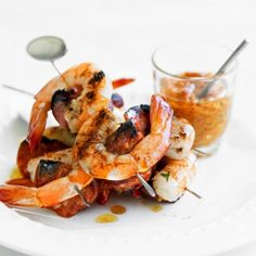 Prawn and Chorizo Cocktail Kebabs with Spicy Capsicum Sauce recipe, bought to you by MiNDFOOD.