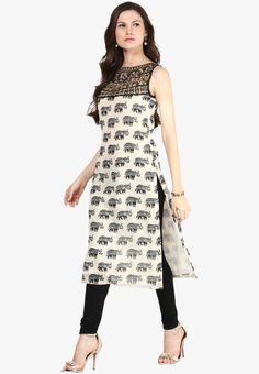 15 Latest and Trending Sleeveless Kurta Neck Designs For Summer In India - Buy lehenga choli online Simple Kurti Designs, Kurta Designs Women, Party Wear Long Gowns, Designer Kurtis Online, Mode Kimono, Fancy Kurti, Kurta Neck Design, Dress Neck Designs, Patiala