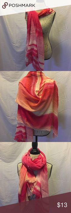 Target scarf Target scarf. Beautiful flow of colors from bright pink to cream to light pink to pale orange. Great spring/summer addition.  Many possibilities for wearing.  100% viscose. Target Accessories Scarves & Wraps