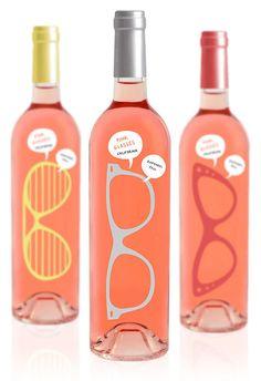 Pink Glasses Wine Bottles Designed by Luksemburk