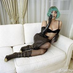Lady Gaga -my favorite green hair
