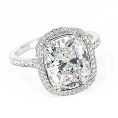 2.74 Ct. Cushion Cut Diamond Engagement Ring H, VS2 (EGL Certified): Diamond Engagement Rings
