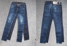 Raw denim com desgaste natural de uso
