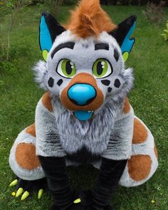 "380 Likes, 2 Comments - Gabe (@fursuit__) on Instagram: ""So cute ima cry Suit belongs to EchoHyena on twitter #furry #fur #furries #fursuit #furryfandom"""